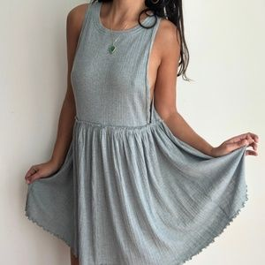 Free People BRB mini tunic dress in gray L
